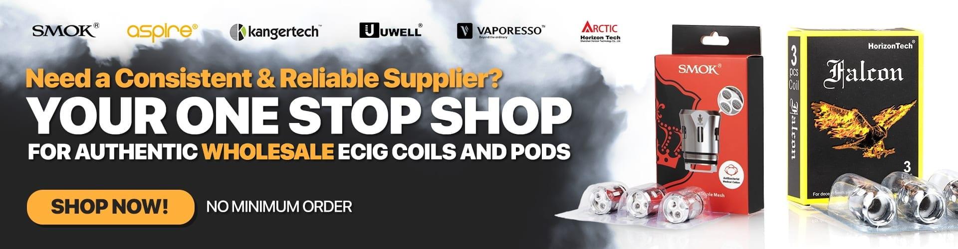 Wholesale Supplies of Vape Shop